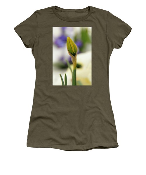 Women's T-Shirt (Junior Cut) featuring the photograph Spring Blooms In The Snow by Chris Berry