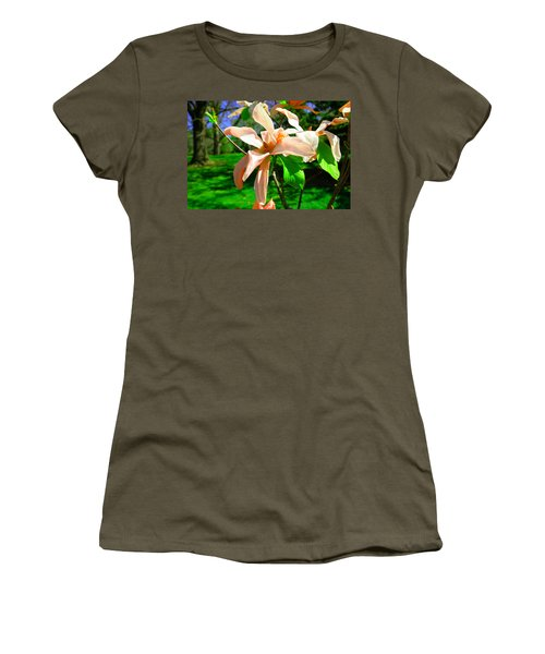 Women's T-Shirt (Junior Cut) featuring the photograph Spring Blossom Open Wide by Jeff Swan