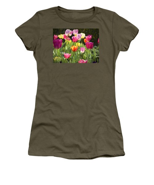 Women's T-Shirt (Junior Cut) featuring the photograph Spring Colors by Penny Lisowski