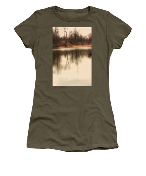 Women's T-Shirt (Junior Cut) featuring the photograph Spring Coming by Edward Peterson