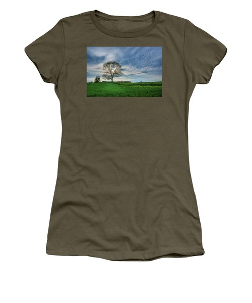Women's T-Shirt (Athletic Fit) featuring the photograph Spring Coming On by Bill Pevlor