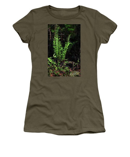Women's T-Shirt (Junior Cut) featuring the photograph Spring Ferns by Skip Willits
