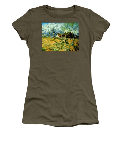Women's T-Shirt (Junior Cut) featuring the painting Spring In Poland by Henryk Gorecki