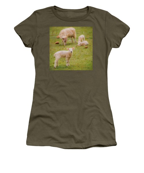 Women's T-Shirt (Athletic Fit) featuring the photograph Spring Lamb by Bellesouth Studio