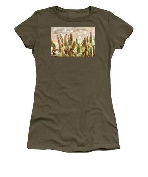 Women's T-Shirt (Junior Cut) featuring the photograph Spring Macro4 by Jeff Burgess