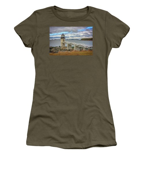 Women's T-Shirt (Junior Cut) featuring the photograph Spring Morning At Marshall Point by Rick Berk