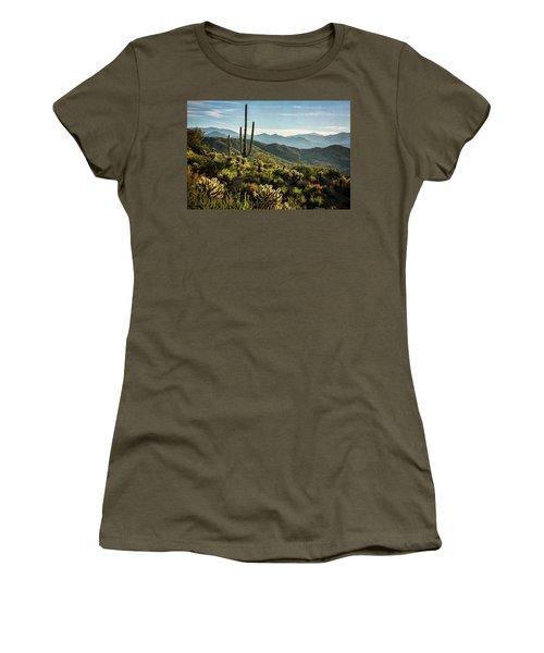 Women's T-Shirt (Junior Cut) featuring the photograph Spring Morning In The Sonoran  by Saija Lehtonen