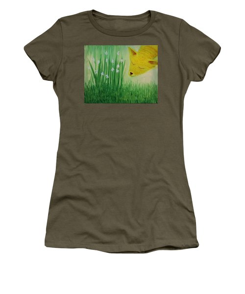 Women's T-Shirt (Junior Cut) featuring the painting Spring Morning by Tone Aanderaa