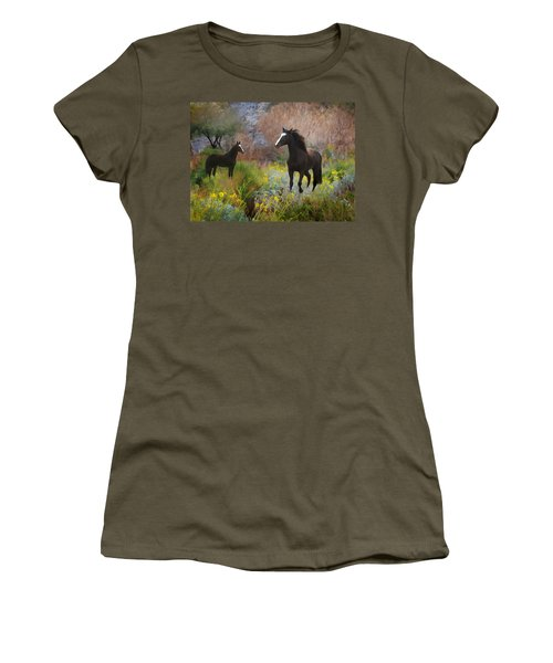 Women's T-Shirt (Athletic Fit) featuring the photograph Spring Play by Melinda Hughes-Berland