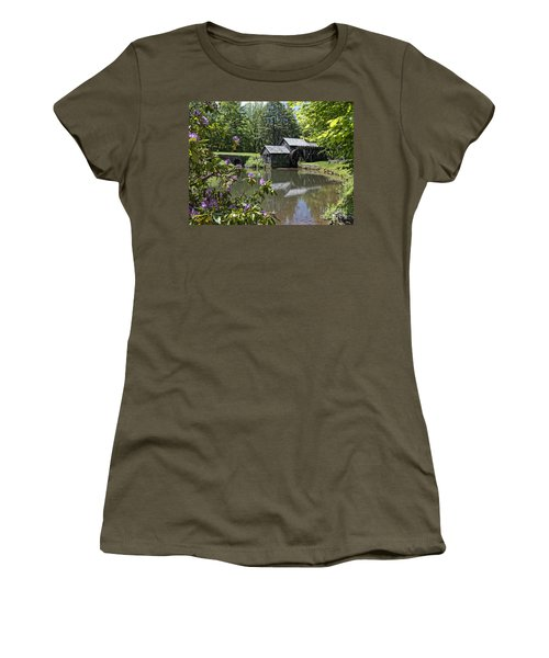 Spring Reflections Of An Ancient Mill Women's T-Shirt
