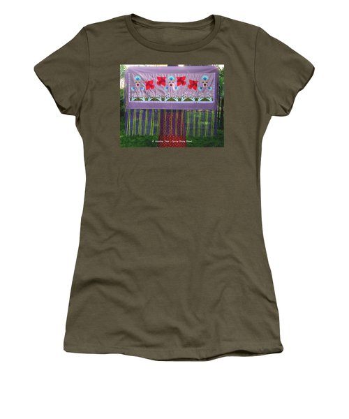 Women's T-Shirt (Athletic Fit) featuring the tapestry - textile Spring Rising by Chholing Taha
