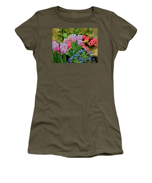 Women's T-Shirt (Athletic Fit) featuring the photograph Spring Show 18 Treasures by Janis Nussbaum Senungetuk