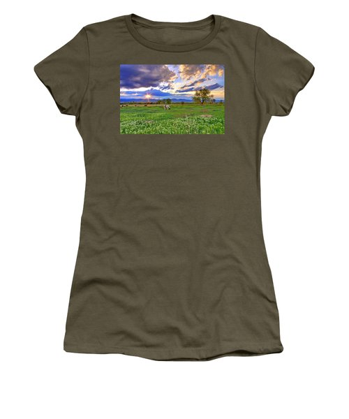 Spring Sunset Over The Rockies Women's T-Shirt (Junior Cut) by Scott Mahon
