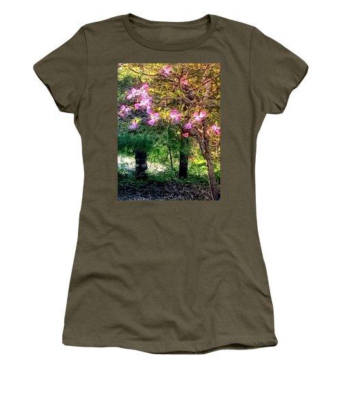 Women's T-Shirt (Junior Cut) featuring the digital art Spring Will Come by Robin Regan