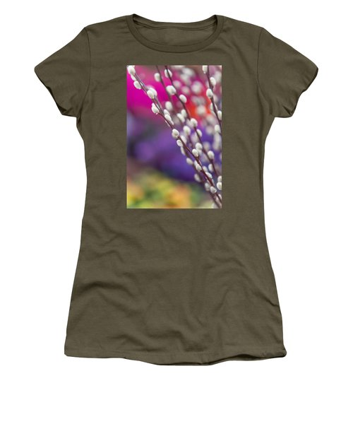 Spring Willow Branch Of White Furry Catkins Women's T-Shirt