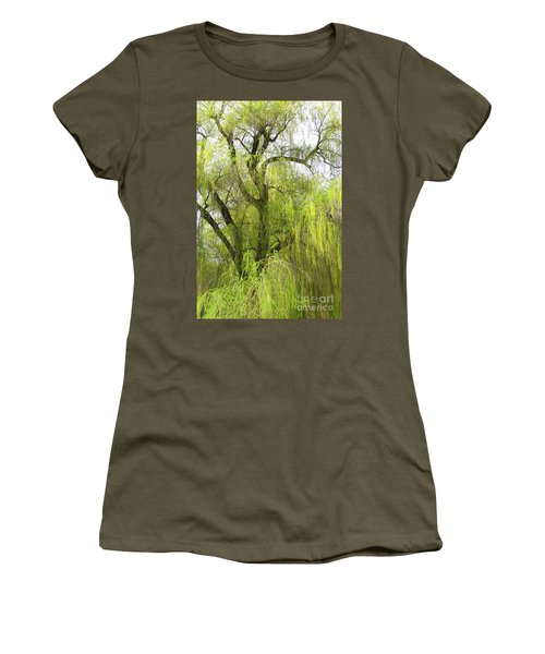 Spring Willow Women's T-Shirt (Athletic Fit)