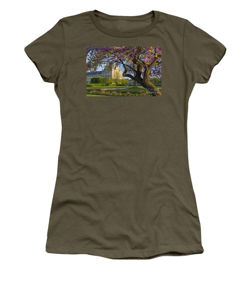 Women's T-Shirt featuring the photograph Springtime In Paris by Brian Jannsen