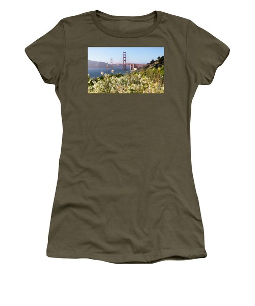 Women's T-Shirt (Junior Cut) featuring the photograph Springtime On The Bay by Everet Regal