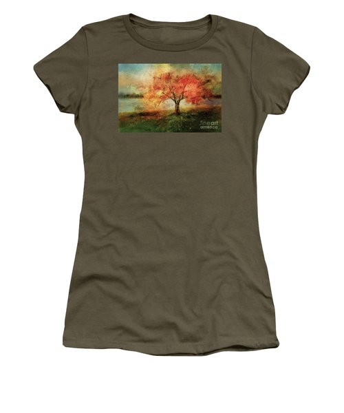 Women's T-Shirt (Junior Cut) featuring the digital art Sprinkled With Spring by Lois Bryan