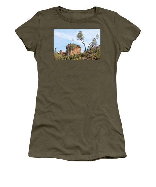Women's T-Shirt (Junior Cut) featuring the photograph Square Rock Formation by Art Block Collections