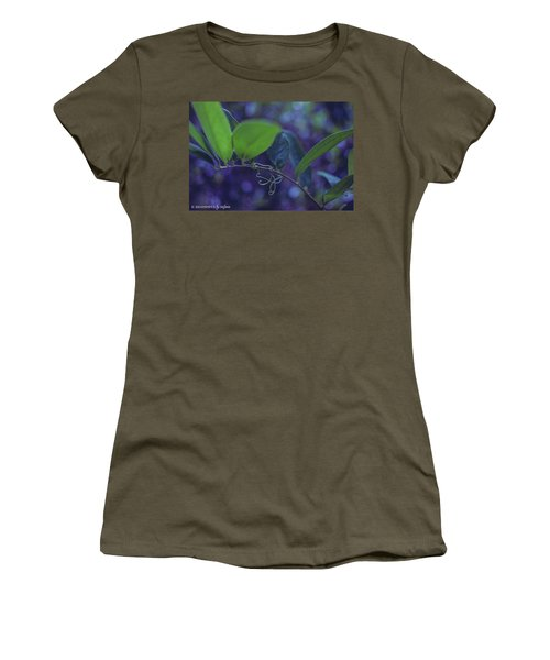 squiggle Vine Women's T-Shirt (Junior Cut) by Stefanie Silva