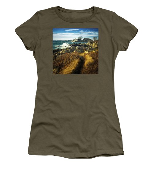 Women's T-Shirt (Athletic Fit) featuring the photograph St. Anne's Church-kennebunk, Maine by Samuel M Purvis III