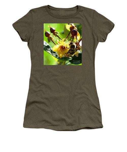 Women's T-Shirt (Junior Cut) featuring the photograph St. John's Wort by Melissa Stoudt