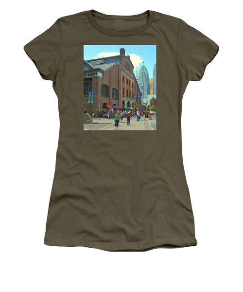 St Lawrence Market Women's T-Shirt (Junior Cut) by Ian  MacDonald