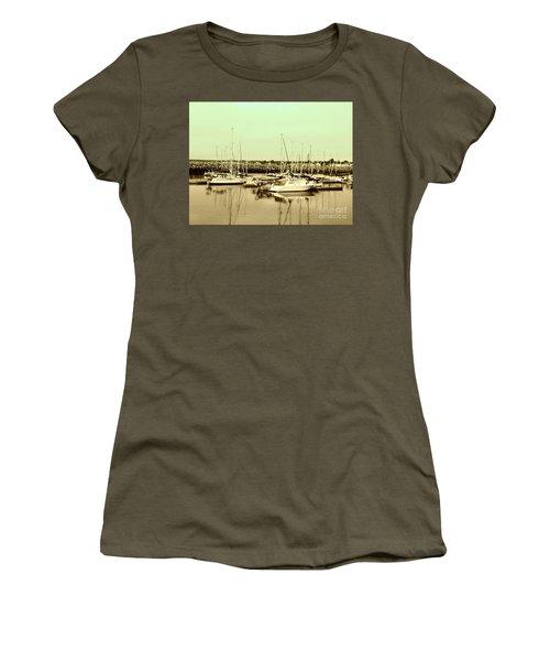 St. Lawrence Seaway Marina Women's T-Shirt (Junior Cut) by Susan Lafleur