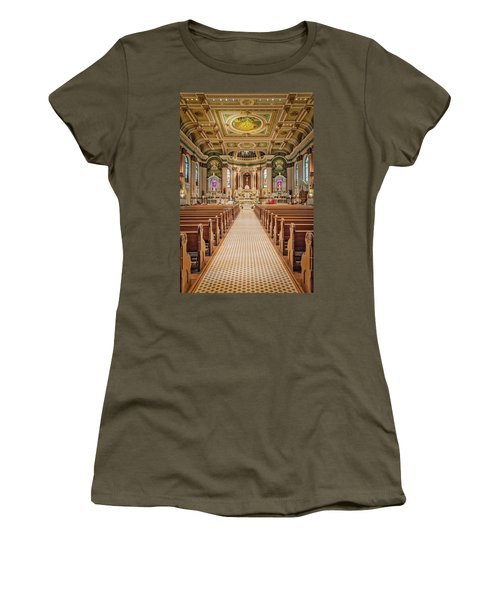 Women's T-Shirt (Junior Cut) featuring the photograph St Peter The Apostle Church Pa by Susan Candelario