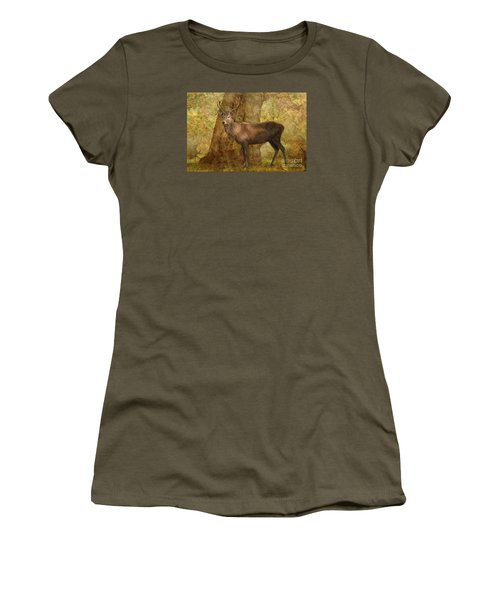 Stag Party Autumn Shade Women's T-Shirt (Junior Cut) by Linsey Williams