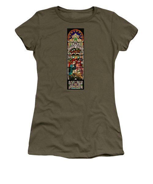 Women's T-Shirt (Junior Cut) featuring the photograph Stained Glass Scene 4 by Adam Jewell
