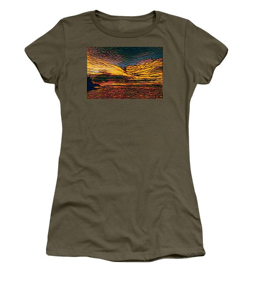 Stained Glass Sunset Women's T-Shirt