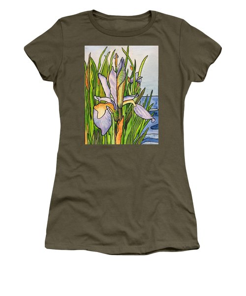 Stained Iris Women's T-Shirt