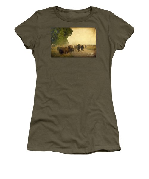 Stampede Women's T-Shirt (Junior Cut) by Teresa Zieba