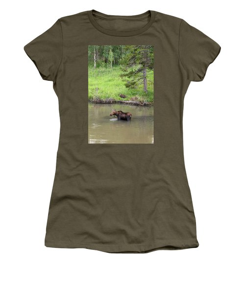Women's T-Shirt (Athletic Fit) featuring the photograph Standing Guard by James BO Insogna