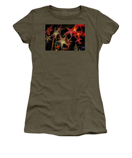 Women's T-Shirt (Athletic Fit) featuring the photograph Star Lights by Lora Lee Chapman