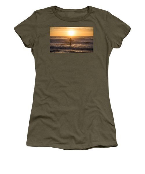 Start The Day Surfing Women's T-Shirt