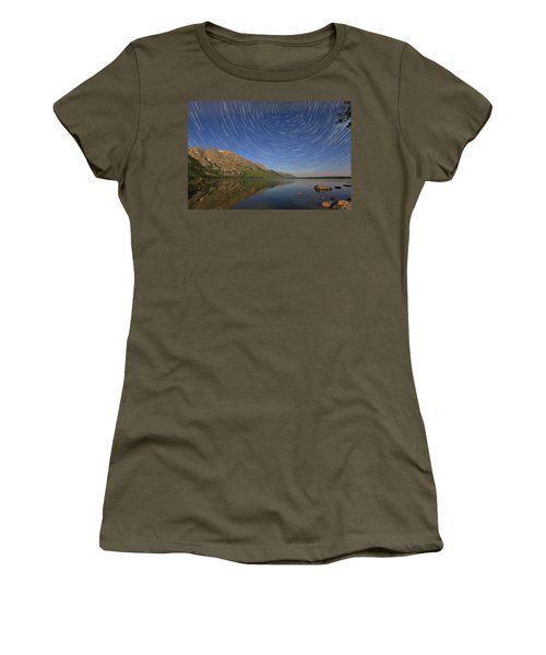 Startrails Over Jenny Lake Women's T-Shirt