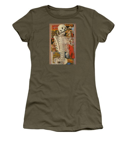 Women's T-Shirt (Junior Cut) featuring the painting Starving Artist by Donelli  DiMaria