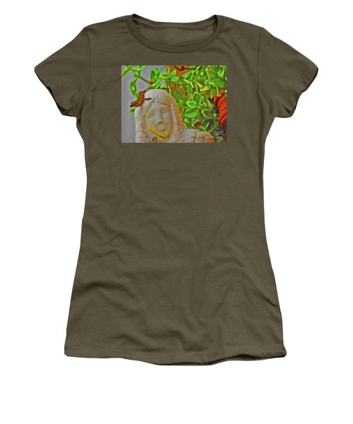 Statue Lizard  Women's T-Shirt (Athletic Fit)