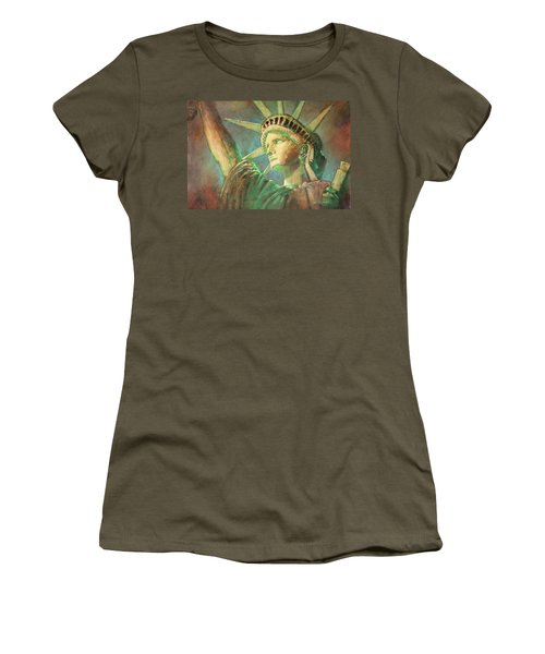 Statue Of Liberty 1 Women's T-Shirt (Athletic Fit)