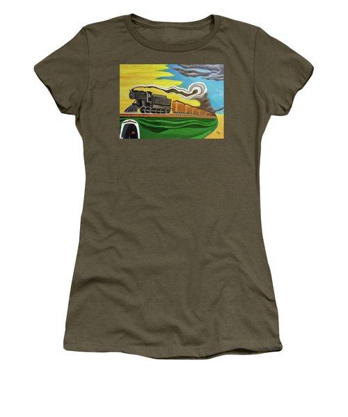 Steaming West Bound Women's T-Shirt (Junior Cut) by Margaret Harmon