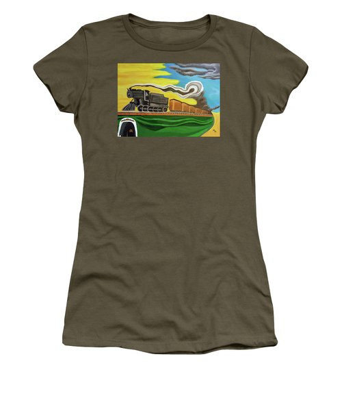 Steaming West Bound Women's T-Shirt (Athletic Fit)