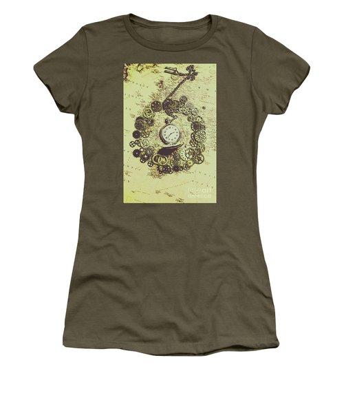 Steampunk Travel Map Women's T-Shirt