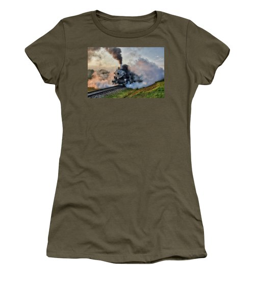 Steamy Departure Women's T-Shirt (Athletic Fit)