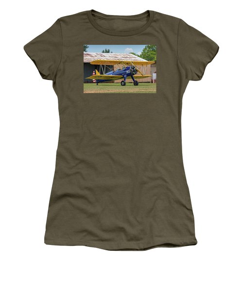 Stearman And Old Hangar Women's T-Shirt