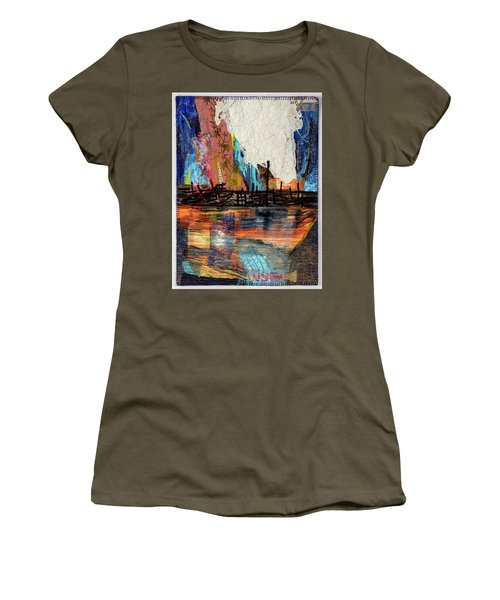 Steel Mills At Night Women's T-Shirt (Athletic Fit)