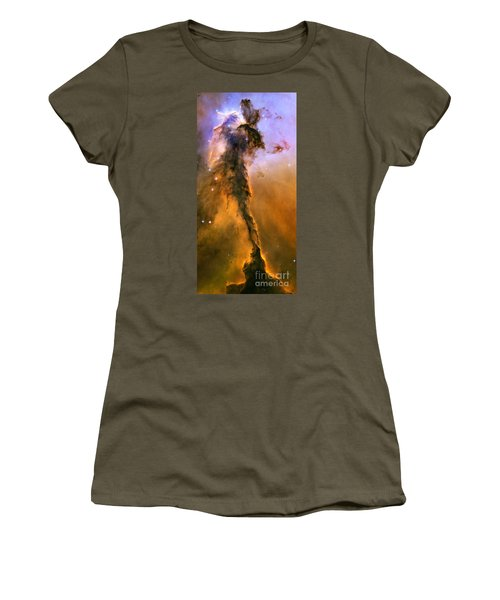 Stellar Spire In The Eagle Nebula Women's T-Shirt (Athletic Fit)