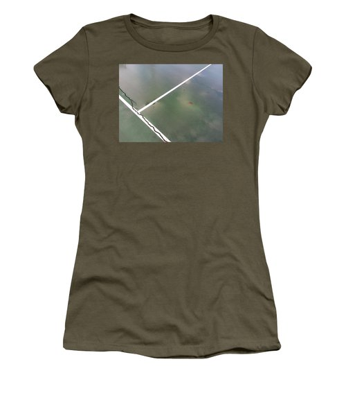 Women's T-Shirt featuring the photograph Step On A Crack... by Robert Knight